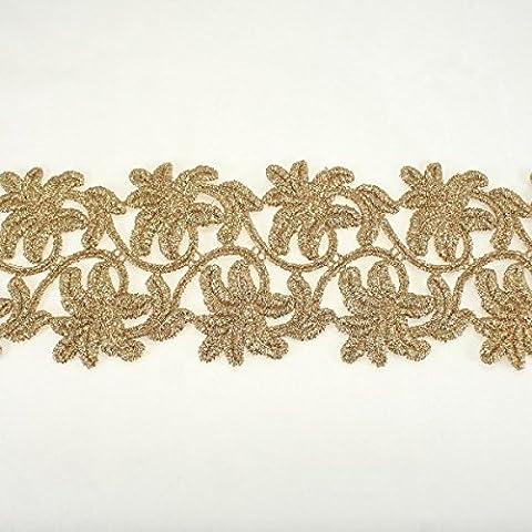 80 mm, colore: oro con bordi smerlati,