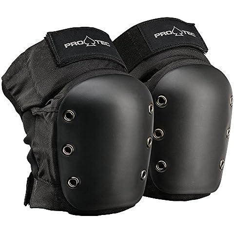 Pro Tec Pro Tec - Protección de rodilla de skateboarding, tamaño L, color negro