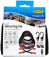 Ring Automotive NRLS1 Bungeeclic Load Strapping Bungee Tie Down Kit Hooks and Clips Stretchy Rope