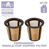 Permanent Universal Single-Cup Replacement Coffee Filter, Set of 2