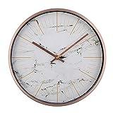 LOSDFVI Orologio da Parete Orologio Silenzioso Design Moderno Orologio da Parete in Metallo al Quarzo Designer Orologi Quiet murale Horloge, Bianco