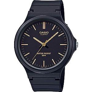 CASIO Unisex Adult Analogue Quartz Watch with Resin Strap MW-240-1E2VEF
