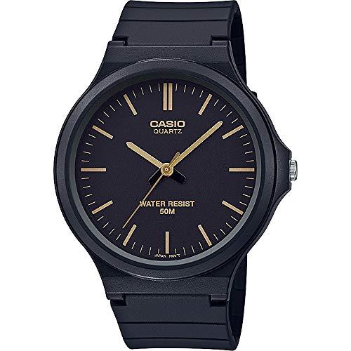 CASIO Unisex Erwachsene Analog Quarz Uhr mit Harz Armband MW-240-1E2VEF - Uhren Frauen Casio Gold