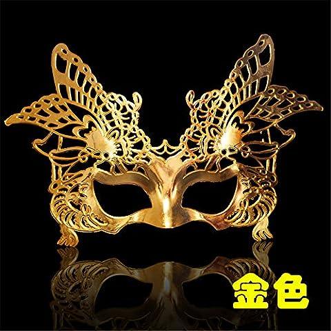 Halloween Maske Masquerade Party Go Show Show Gemalte Schönheit Prinzessin Halbes Gesicht Drache Und Phoenix Maske,Golden
