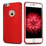 Etui iPhone 6S Plus, iPhone 6 Plus Silicone Coque, RosyHeart Etui Coque TPU Slim Bumper pour iPhone 6 Plus / 6S Plus (5.5 pouces) Souple Housse de Protection Flexible Soft Case Cas Couverture Anti Choc Mince Légère Transparente Gel Cover - Rouge