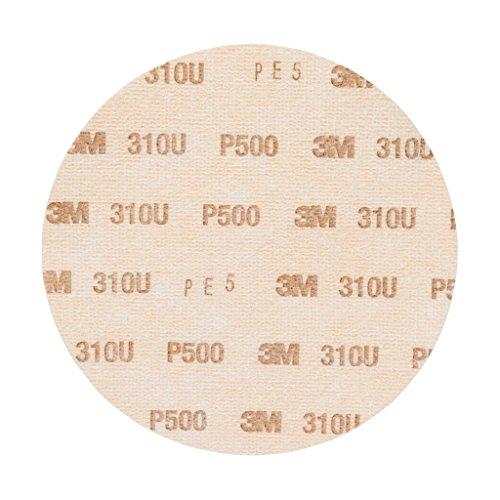 3M Hookit Schleifscheibe 310U, 150 mm, P500, ungelocht, 100 Stück / Karton