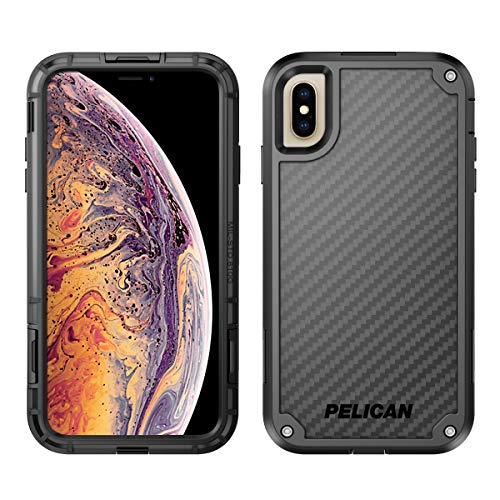 Pelican Shield iPhone XS Max Case with Kevlar Brand fibers (Black) Cell-shield