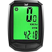 Cuentakilómetros para bicicleta YS inalámbrico impermeable con retroiluminación gran pantalla LCD de HD de pantalla auto