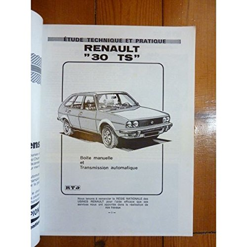 RTA0359 - REVUE TECHNIQUE AUTOMOBILE RENAULT R30 TS