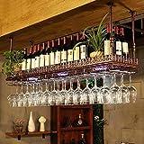 dos Creativo estante de vino de hierro forjado montado en la pared adecuado para muchas ocasiones que puede mostrar vino tinto y copas de vino al mismo tiempo hecho de artesanía de hierro forjado