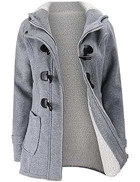 Le Donne Monocolor Felpa Ridicola Giacca Stile Inverno Caldo Cappotto