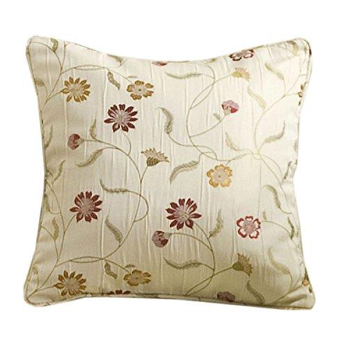 Floral Chintz (Homescapes Kissenhülle für Zierkissen 43 x 43 cm Black ergänzend zu Klassische Fertiggardinen Set Chintz Blumen Muster Jacquard Vorhang Floral)