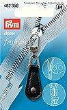 Prym Imititation Leder rund Fashion Zip Abzieher, schwarz