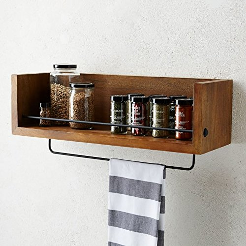 Matchless Kitchen Shelf (Standard,Provincial Teak)