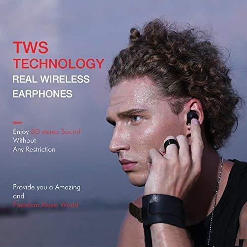 HAVIT Bluetooth Kabellose Kopfhörer in Ear V5.0, Sport Ohrhörer, IPX5 Wasserdicht, 18 Stunden Abspielzeit, Aufbewahrungsbox mit Ladefunktion,Eingebautes Mikrofon für iPhone,Samsung und Huawei, HTC - 5