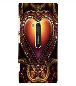 ColourCraft Love Heart Design Back Case Cover for NOKIA LUMIA 920