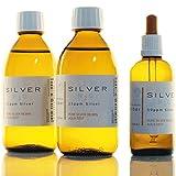 2x Flaschen (je 250ml/25ppm) kolloidales Silber + Pipettenflasche (100ml/50ppm) SET