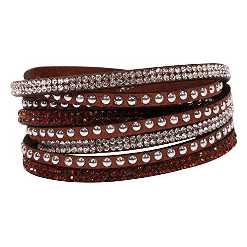 Gosunfly Liebhaber 10 Farbe Armband, männlich, koreanisch, koreanische Mode, Nieten, Hand, Mode, Multi-Layer-Armband Zubehör, Kaffee -