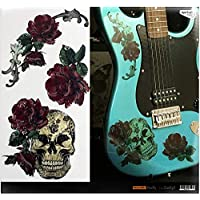 Layer Graph Stickers Decals for Guitar & Bass - Gothic Skull & Roses