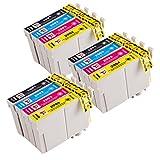PerfectPrint - 12 PerfectPrint cartucho de tinta Compatible reemplazar T2996 para Epson XP-235 XP-332 XP-335 XP-432 XP-435