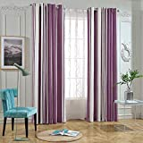 koyotel Gestreifte Vorhänge nach Maß einfache Moderne Wohnzimmer Schlafzimmer Boden VorhängeBreite 150 * Höhe 270 Hakenstück