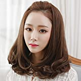 Spritech(TM)?New?Stylish?Light Brown Fluffy Realistic?Half Head Wig Short Wavy Curly Hair?Wig?Fiber?Synthetic?Women?Wig With Fine Hair Net