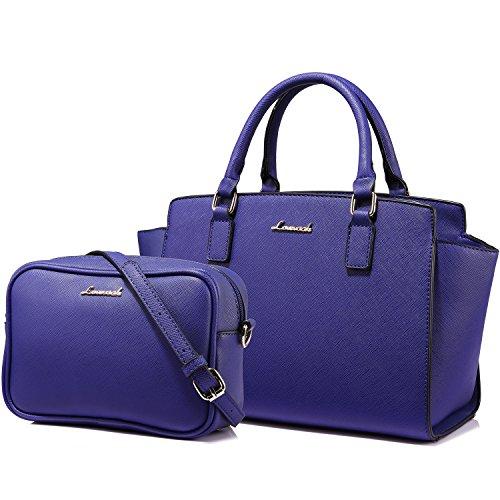 Tote Bag Sac a Main Sac Femme Sac à Bandoulière Sac Desigual 2PCs,Bleu