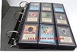 docsmagic.de 3-Ring Premium Album Black + 50 18-Pocket Sideloading Pages - Raccoglitore per Carte da Gioco collezionabili + Pagine - Nero - Pokemon - Yu-Gi-Oh! - Magic