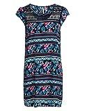 myOwn by Adler Mode Damen Kleid mit angeschnittenem Arm und Spitzeneinsatz - Fummel, Robe, Abendkleid, Stoffkleid Marine/Türkis/Pink/Weiß 36