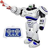 SGILE Groß Ferngesteuerter Roboter Spielzeug für Kinder, Intelligente Programmierung RC Roboter mit LED Licht und Musik, RC Spielzeug für Kinder Unterhaltung Kindergeschenk Blau