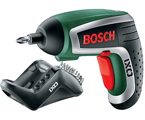 Preisvergleich Produktbild Bosch DIY Akku-Schrauber IXO Set 4. Generation, Winkelaufsatz, Exzenteraufsatz, 10 Schrauberbits, Ladegerät, Metalldose (3,6 V, 1,5 Ah)