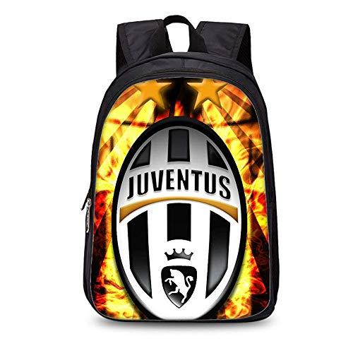 Zaino Football Star Zaino Juventus Soccer Club Zaino in poliestere Studente/Zaino per bambini Zaino Fashion (#4)