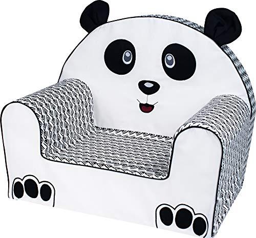 Bubaba - sedia per bambini, 12 design differenti, gommapiuma duratura, super leggera, prodotta in eu, tema:panda