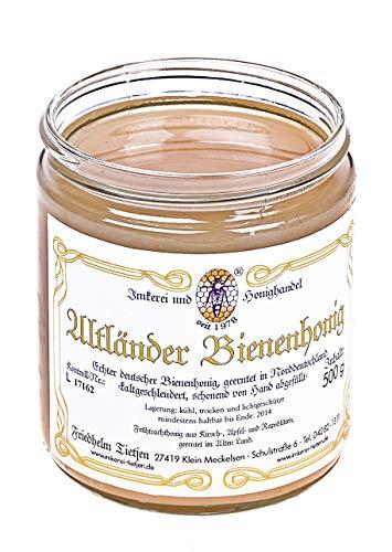 Altländer Bienenhonig 500g fruchtig-mild, naturbelassen Honig (von Imkerei Nordheide) | Deutscher Honig vom Imker