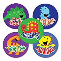 "Sticker Solutions 28 mm""Smiley Dinos Variety"" Sticker (Pack of 125)"