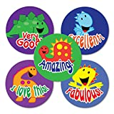 "Sticker Solutions 28 mm ""Smiley Dinos Variety"" Sticker (Pack of 125)"