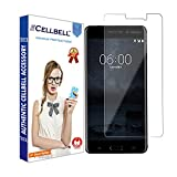 CELLBELL Tempered Glass Screen Protector for Nokia 3 (TA-1038) with Installation Kit