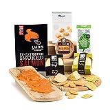 Käsespezialitäten und geräucherter Lachs Hamper Geschenkbox - Lieferung frei Haus in GB