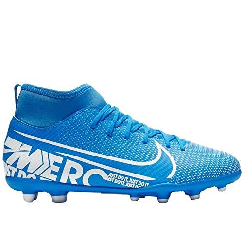 Nike jr superfly 7 club fg/mg, scarpe da calcio unisex-bambini, multicolore (blue hero/white/obsidian 414), 36.5 eu