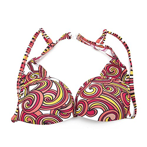 Speedo Tankini Nylon (Restposten Speedo Bikini Oberteil mit Muster (DE 38B (90cm)) (Pink/Orange))