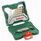 Bosch X-Line Titanio - Maletín de 30 unidades para taladrar y atornillar