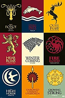 Game Of Thrones Sigils Jumbo Fridge Magnet