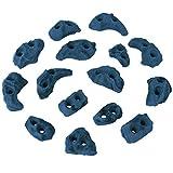 ALPIDEX Klettergriffe Klettersteine Tritte Größe XS - 15, 30, 60, 120 Stück, Farbe:blau-meliert, Verpackungseinheit:60 Stück