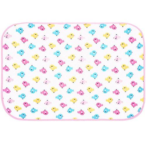 Almohadilla de orina para bebé, reutilizable, de algodón impermeable, alfombrilla para cambiar pañales, protector de colchón para recién nacido, bebés, niños, niñas y niños