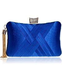 a77ab6ccf3875 BESTWALED Damen Abendtasche Luxus Strass Clutch Bag Mode Perle Stickerei  Bankett Tasche Diamond Dinner Handtasche…