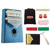Piano de pouce Kalimba Mogoi Kalimba 17 touches avec marteau de tonalité (français non garanti) pour enfants adultes débutants professionnels