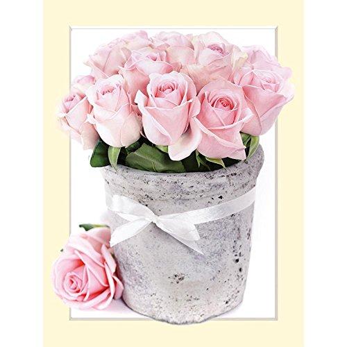 Diamant Peinture, Nelnissa 5d Fleurs DIY Diamant Peinture Craft Broderie au point de croix Home Décorer 35 x 45 cm/35 x 45 cm
