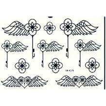GGSELL GGSELL última producto Nuevo resistente al agua y a la Moda Negro Diseño de alas de ángel
