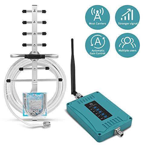 ANNTLENT Handy Signalverstärker für alle europäische Betreibers GSM UMTS LTE Verstärker 800/900/1800/2100/2600 MHz 2G 3G 4G Repeater Sprachanruf und Daten verbessern