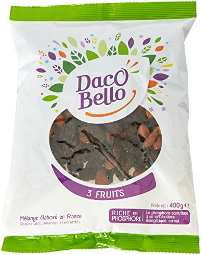 Daco Bello Mélange de Fruits Secs 3 Fruits 400 g - Lot de 4